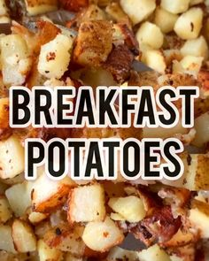 "Easy Breakfast Potatoes are such a simple side dish to make. Often referred to as ""home fries"" you can skillet fry up your potatoes and they are a crowd favorite. Used as a breakfast potato, you cannot go wrong adding these to just about any meal Healthy Breakfast Potatoes, Healthy Potatoes, Easy Healthy Breakfast, Healthy Breakfasts, Home Fried Potatoes, Fried Potatoes Recipe, Skillet Potatoes, Recipes Breakfast Video, Homemade Breakfast"