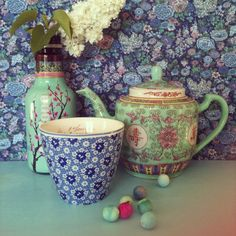 thé bleu