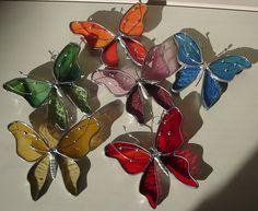 Butterfly sun-catchers.