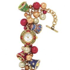 Keep track of time and look festive with this Christmas jewelry watch. This fabulous Christmas craft is utterly gorgeous.