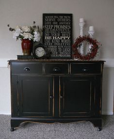 {createinspire}: Black Buffet / great blog and good painting tips