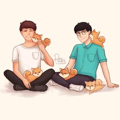 I looove Dan and Phil! They're so sweet and funny and they've helped me overcome so much. The only regret I have is that I must accept that they don't know or care about me, nor will I ever be able to see them since TATINOF is over in America... :(