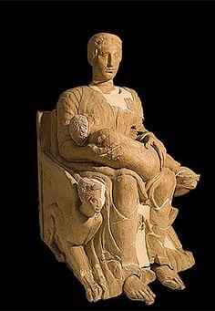 escultura ibera . museo arqueológico de madrid. spain