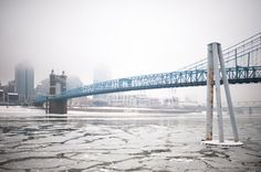 Icy Ohio River by Peter Stevens