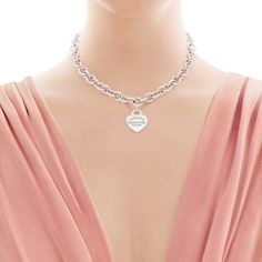 Return to Tiffany® heart tag necklace in sterling silver. | Tiffany & Co.