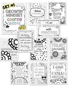 I have been having fun this summer making coloring pages! These coloring pages have been very popular in my shop: Emoji Coloring Pages 5 pages Growth Mindset Coloring Pages Set 10 pages Gro… Growth Mindset Classroom, Growth Mindset Activities, Growth Mindset Posters, Growth Mindset For Kids, Growth Mindset Lessons, Emoji Coloring Pages, Free Coloring Pages, Free Printable Coloring Pages, Bulletins