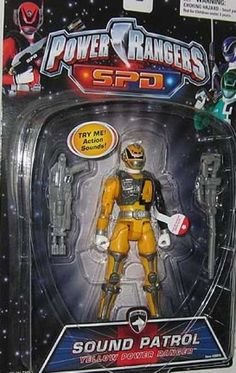Action Figure Boxes - Power Rangers Sound Patrol