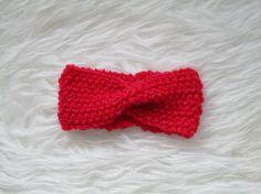 Bandeau  Headband tricoté pour bébé 3-6 par leshistoiresdeslaine