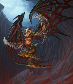 Blood elf Demon Hunter by VanHarmontt on @DeviantArt