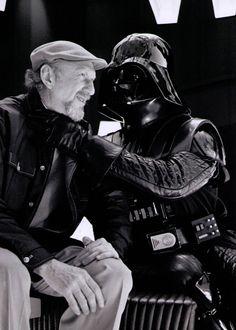 Informal moment between Vader and Irvin Kershner, director of The Empire Strikes Back