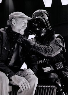 Informal moment between Vader and Irvin Kershner, director of The Empire Strikes Back