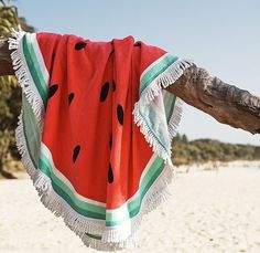 round watermelon beach towel by Cotton On. http://www.cottoncandydiva.com/2015/12/01/round-beach-towels-summer-trend/