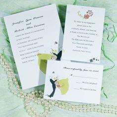 Romantic wedding dance invitations EWI181 as low as $0.94