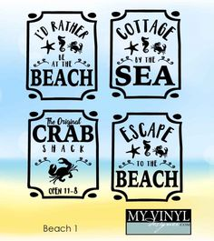 DIGITAL DOWNLOAD ... Beach vectors in AI, EPS, GSD, & SVG formats @ My Vinyl Designer #myvinyldesigner