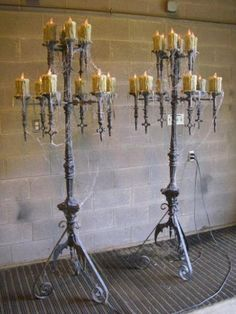I would love to have candelabra like this.