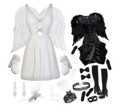 """""""Big Sister, Little Sister"""" by rubysal ❤ liked on Polyvore featuring SummerRose Jewelry, Mineheart, Sydney Evan, Balmain, Donald J Pliner, Masquerade, blackandwhite and sisters"""