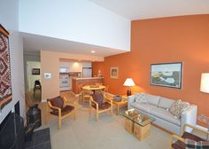 Great views and nice decor in this condo located on a beautiful Lake Michigan beach.