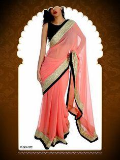 Bollywood Designer Pink Saree-Sarees-Saree palace