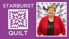 Make an Easy Starburst Quilt with Jenny - YouTube  When I decided I wanted to learn how to quilt I learned by watching Jenny's tutorials. She makes projects that look so complicated so easy.