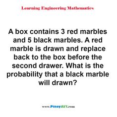 Black Marble, Marbles, Statistics, Mathematics, Drawer, Two By Two, Learning, Box, Math
