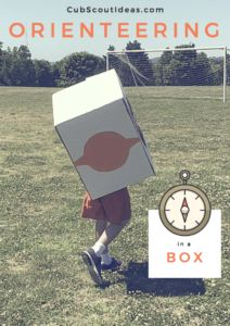 What a fun #CubScout pack meeting idea! Go orienteering in a box to learn about using a compass.