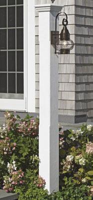 Norfolk Side Mount Lantern Post | Wood Lantern Posts, Vinyl Lantern Posts from Walpole Woodworkers