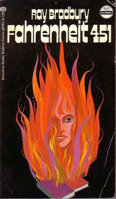 Ray Bradbury's Fahrenheit 451 Book Covers Through Time - Slate Magazine - 1972 reissue