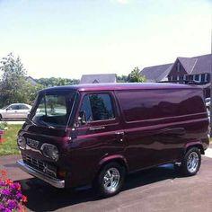 Ford van Vintage Vans, Vintage Trucks, Classic Trucks, Classic Cars, Pick Up, Vw Camping, Automobile, Old School Vans, Vanz