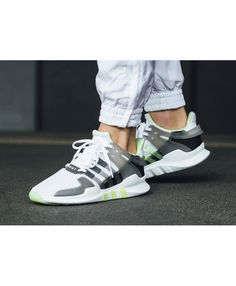 buy online d9602 9fb48 Adidas EQT Support ADV White Grey Semi Frozen Yellow Fashion Trainers