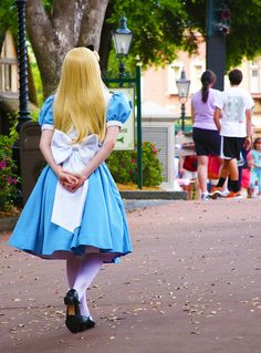 Alice from Alice in Wonderland.