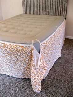 DIY Home Staging Tips: Faking a Bedroom- Part 2: DIY Bedskirt