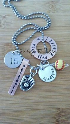 $26.99 Customize this necklace with your name, your sport and your number!