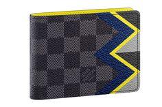 Louis Vuitton PF Multiple wallet in damier graphite, $490.