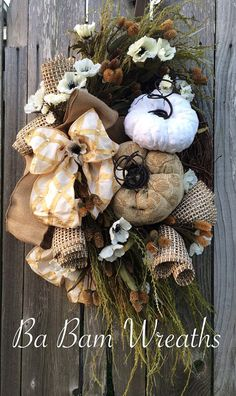 188 Best Fall / Halloween Grapevine Wreaths images in 2019 | Autumn wreaths, Grapevine wreath ...