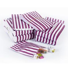 100 Candy Stripe Paper Party Bags PICK n MIX  Wedding Gifts Sweets 11cm x 25cm