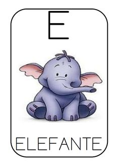 E is for Elephant = Elephant Writing Area, Writing Words, Picture Templates, Spelling Games, Abc Activities, Baby Gym, Unit Plan, Learn Art, Spanish Classroom