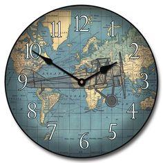 Vincenzo blue world map wall clock 10 60 whisper quiet nonticking vincenzo blue world map wall clock 10 60 whisper quiet nonticking read more at the image link home wall decor pinterest wall clocks publicscrutiny Images