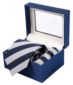 Sir Michele Blue Tie Hanky Set