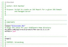 SOA 12.2.1.2.0: Schedule your Integration Workload Statistics (IWS) Report by Command Line by Dirk Nachbar