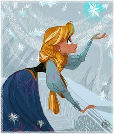Frozen #Disney - Illustration/Illustrazione by Daemion Elias George-Cox
