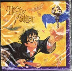Harry Potter Flying Keys Party Napkins @ niftywarehouse.com #NiftyWarehouse #HarryPotter #Wizards #Books #Movies #Sorcerer #Wizard