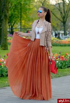 Maxi Skirt! Great colour combination