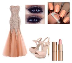 """Peach Prom"" by bikergal98 on Polyvore featuring KG Kurt Geiger and Charlotte Tilbury"