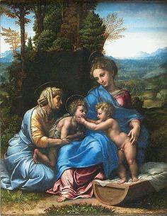 "Картина ""Малое святое семейство"" (Piccola Sacra Famiglia) датирована 1518-1519 годами."