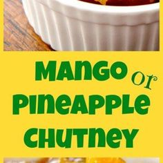 Spicy Caribbean Pineapple or Mango Chutney. An easy to make chutney which is like sunshine in a bowl! delicious with cold cuts or use as a marinade for pork or chicken. Chutney Recipes, Jam Recipes, Recipies, Cooking Curry, Pork Marinade, Cold Cuts, Homemade Salsa, Chutneys, Curry Powder