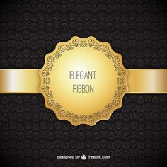 Ornamental background with elegant ribbon Texture Vector, Ribbon Design, Vector Design, High Quality Images, Vector Free, Creative, Accessories, Wallpaper, Free Vector Art