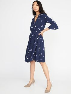 Fit & Flare Floral-Print Dress for Women    | Old Navy