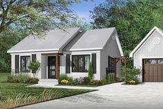 Houseplan 034-00286 Cottage Style House Plans, Cottage Plan, Cottage Style Homes, Best House Plans, Small House Plans, House Floor Plans, Minimalist House Design, Small House Design, Cottage Design