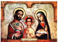 Religious Images, Religious Icons, Religious Art, Blessed Family, Holy Mary, Blessed Virgin Mary, Holy Family, Orthodox Icons, St Joseph