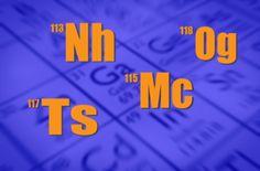 Image copyright                  Thinkstock/BBC                  Image caption                     Nihonium, moscovium, tennessine y oganesson.   En enero pasado sólo se conocían como 113, 115, 117 y 118, y tal como dicta la tradición, a los científicos responsables de su descubrimientos se les da la oportunidad de darles un nombre.  Así que, al menos que surja alguna oposición, los cuatro elementos nuevos pasarán a llamarse: nihonium (Nh), moscovium